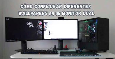 Cómo configurar diferentes fondos de pantalla en monitores duales en Windows 10